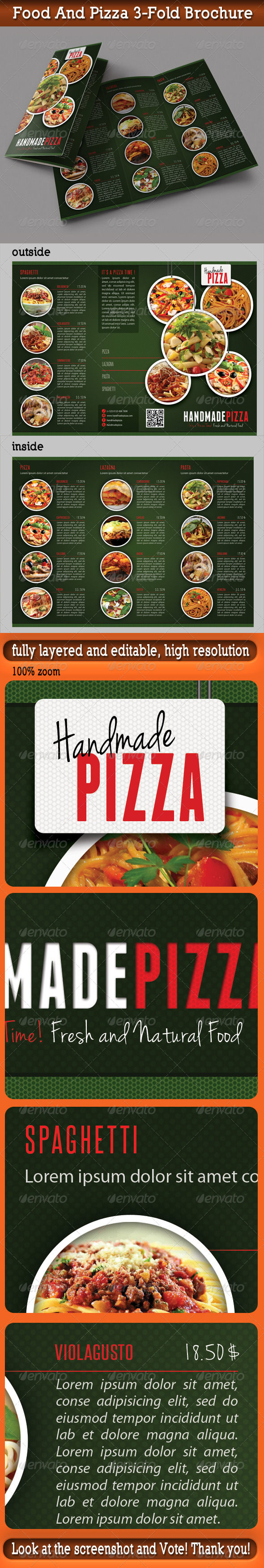 GraphicRiver Food And Pizza 3-Fold Brochure 03 5903461