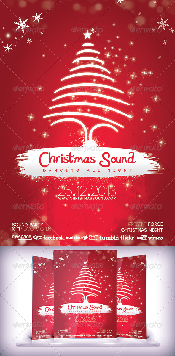Christmas Sound Flyer - Flyers Print Templates