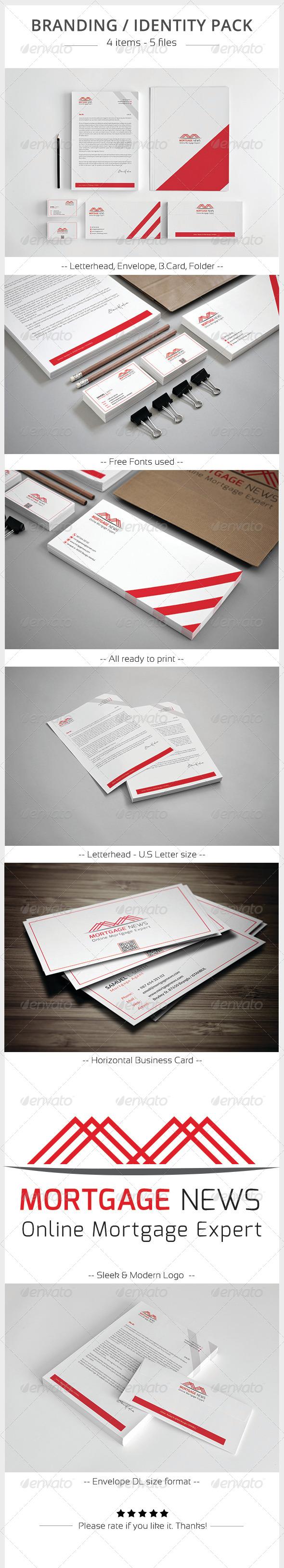 GraphicRiver Mortgage News Corporate Identity 5903622