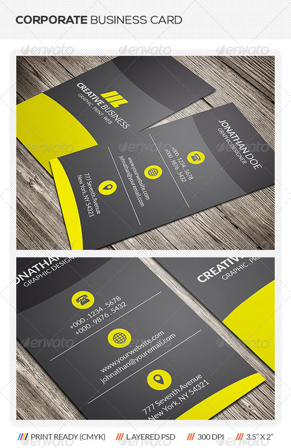 GraphicRiver Corporate Business Card 5904150
