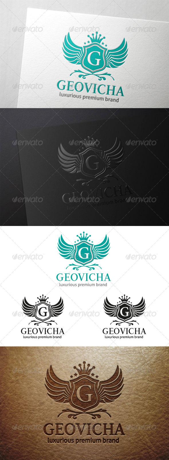 Geovicha Letter G Crest - Crests Logo Templates