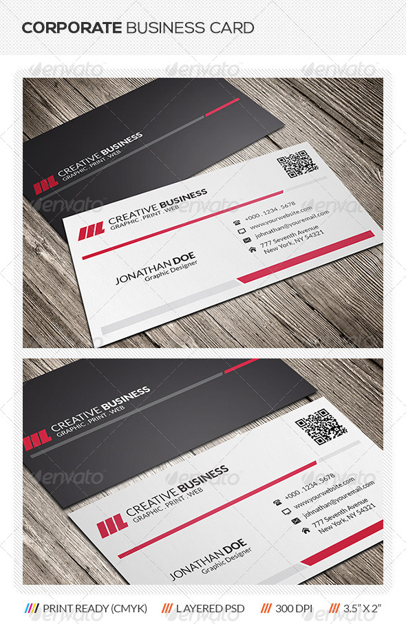 GraphicRiver Corporate Business Card Design 5904250