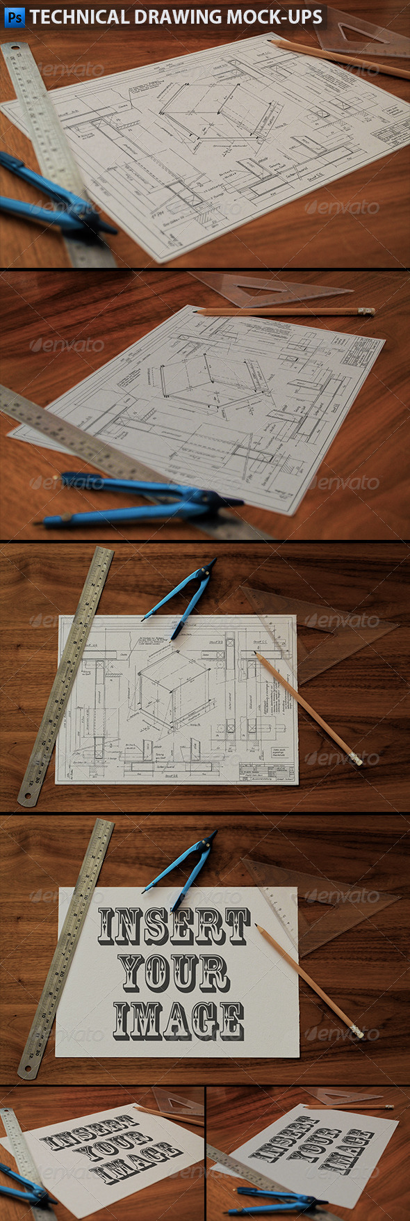 GraphicRiver Technical Drawing Drafting Mock-Ups 5904838