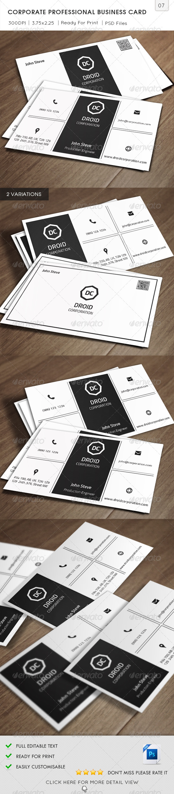 GraphicRiver Corporate Professional Business Card v07 5905119