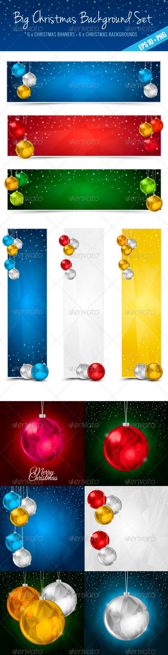 GraphicRiver Christmas Polygon Set 5905139