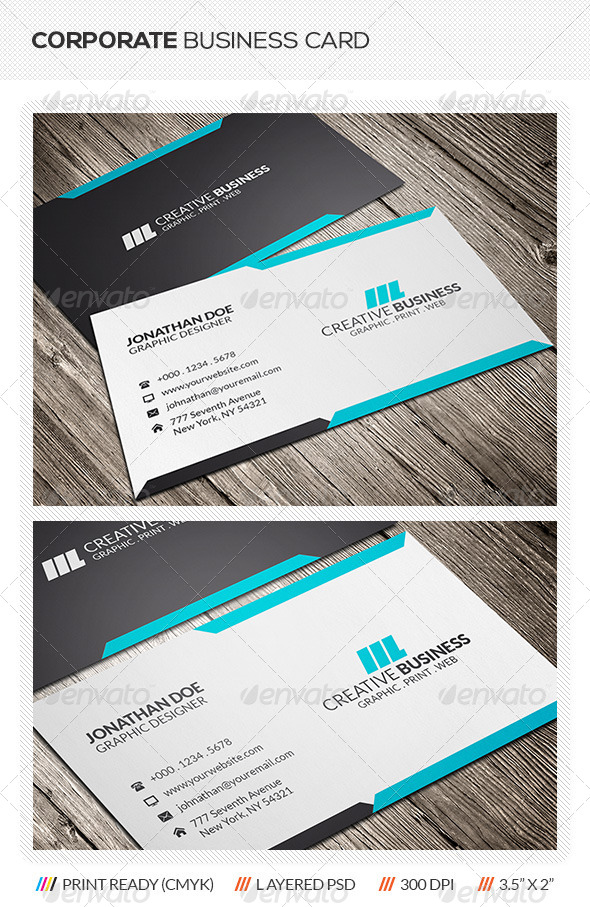 GraphicRiver Corporate Business Card Template 5905343