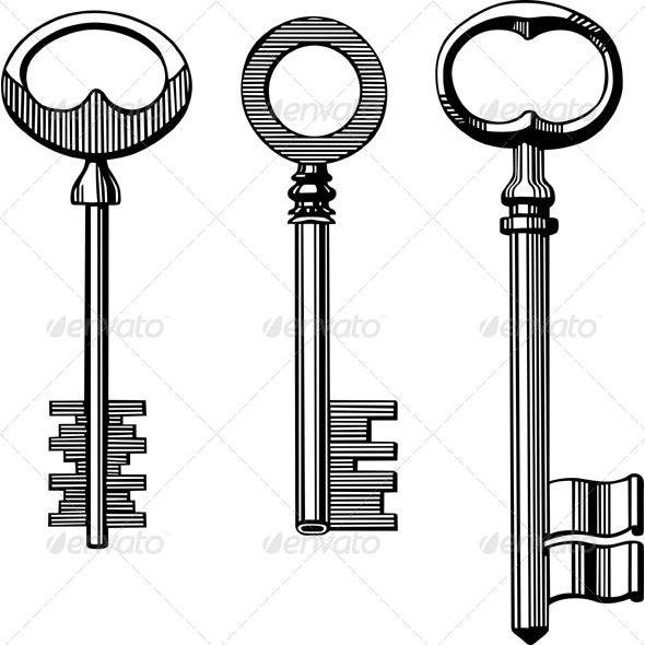 GraphicRiver Vintage Keys 5596582