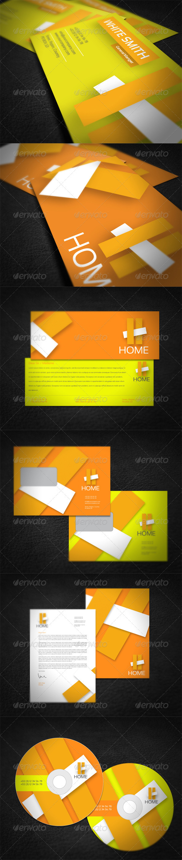 Home Company Corporate Identity  - Stationery Print Templates