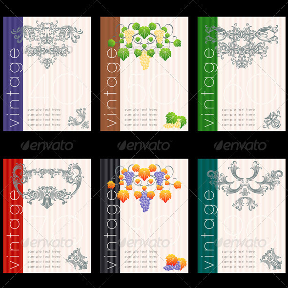 GraphicRiver Wine Labels Design Template Set 613529