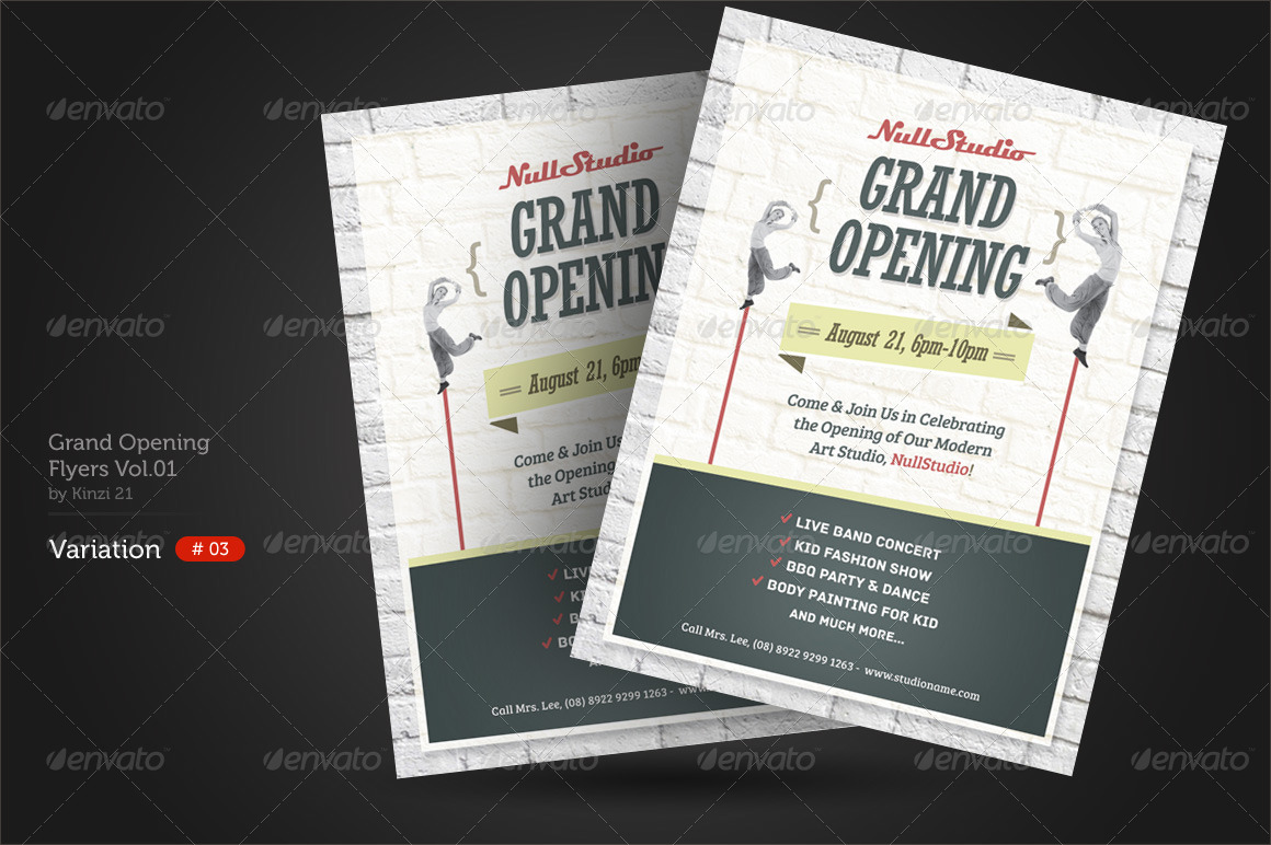 Grand Opening Flyers Vol01 by kinzi21 – Grand Opening Flyer