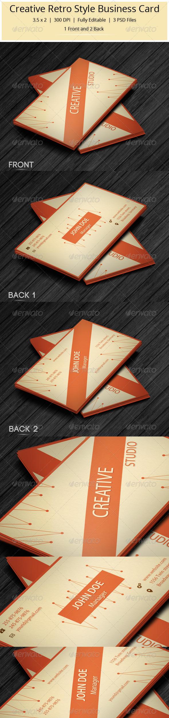GraphicRiver Creative Retro Style Business Card 5906581