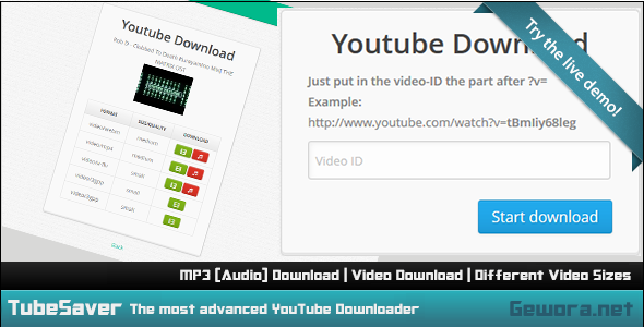 CodeCanyon TubeSaver The Most Advanced YouTube Downloader 5883590