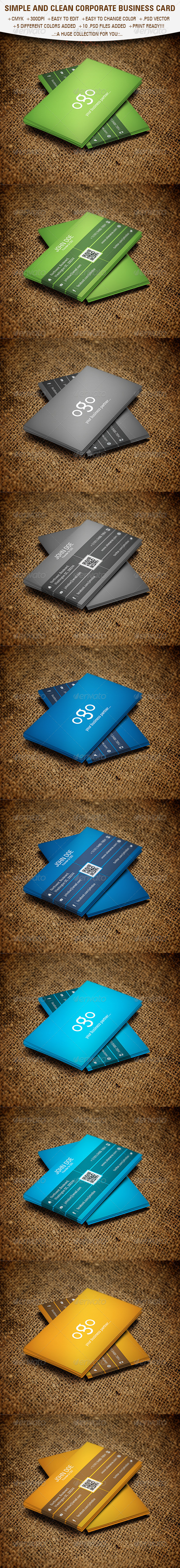 GraphicRiver Simple Corporate Business Card 5906904