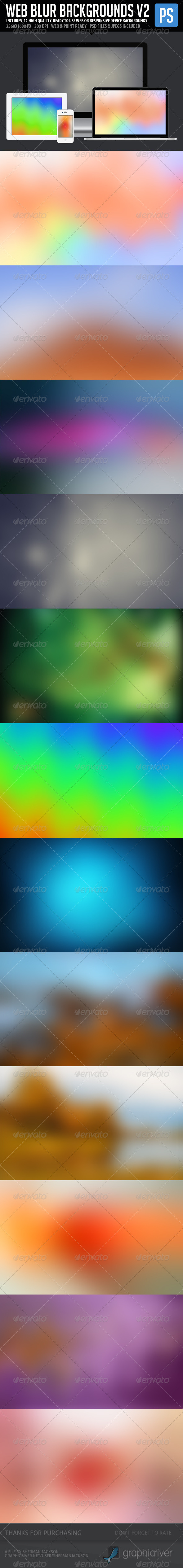 GraphicRiver Web Blur Backgrounds V2 12 in 1 5877120