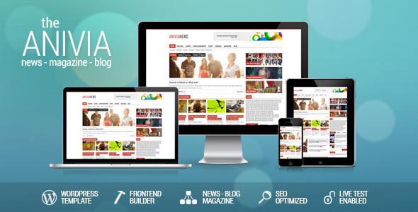 ThemeForest Anivia News Magazine Blog Wordpress Template 5906968