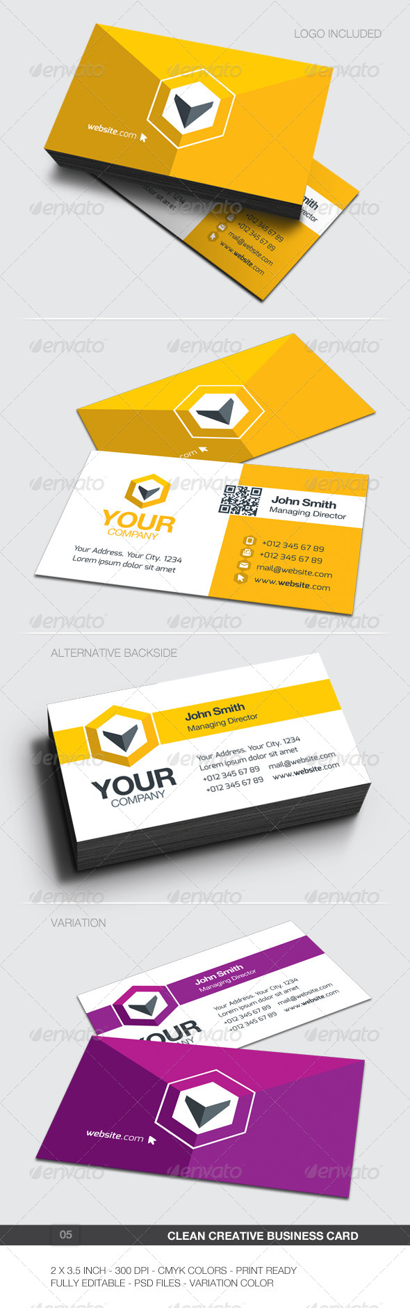 GraphicRiver Clean Creative Business Card 05 5907047