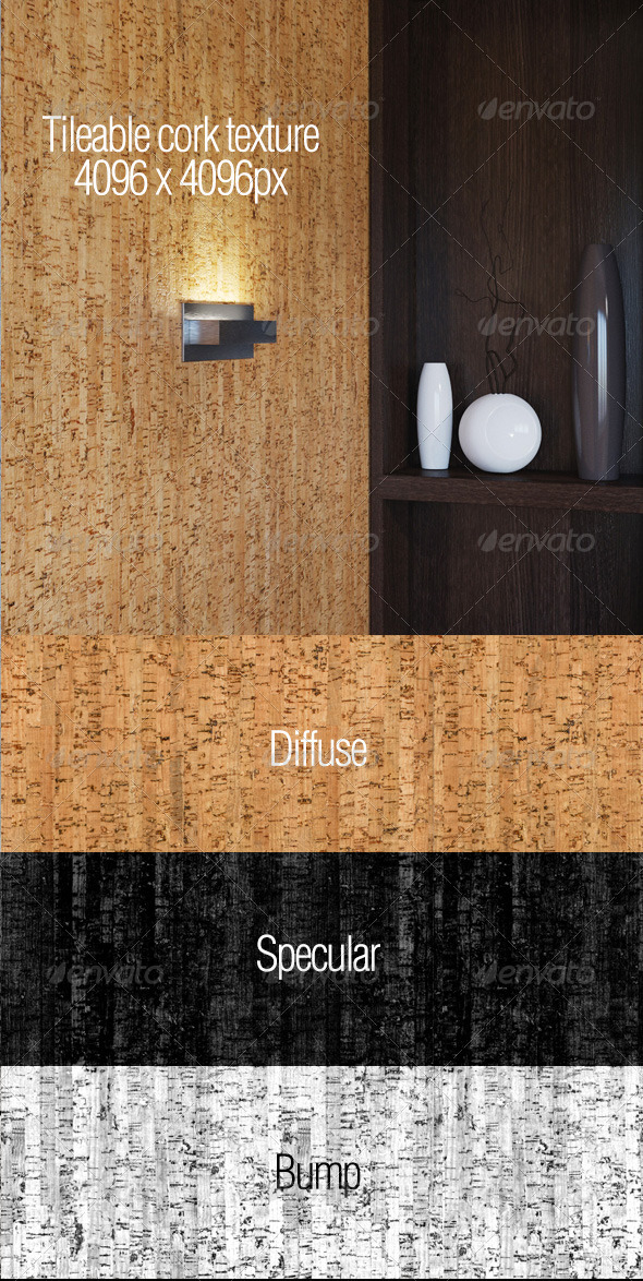 High resolution tileable cork texture