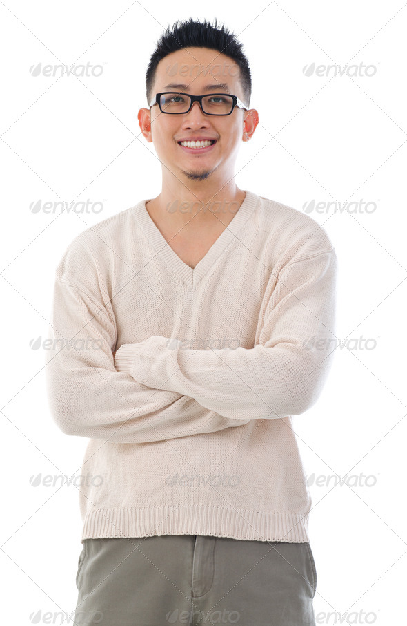Southeast Asian man portrait - Stock Photo - Images
