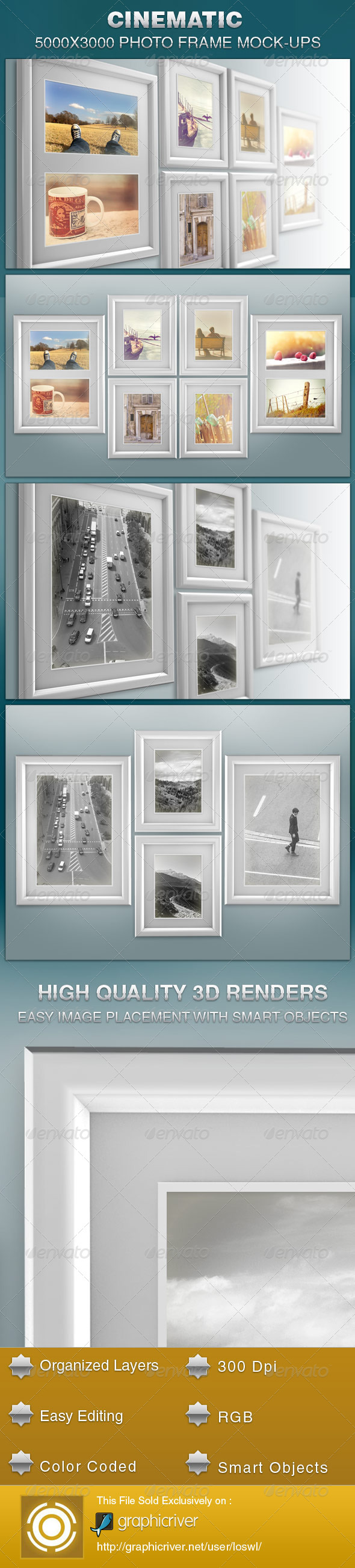 GraphicRiver Cinematic Photo Frame Mock-ups 5907152