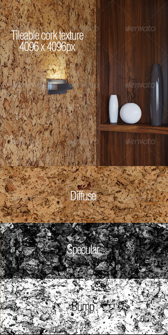 3DOcean High resolution tileable cork texture 5907449