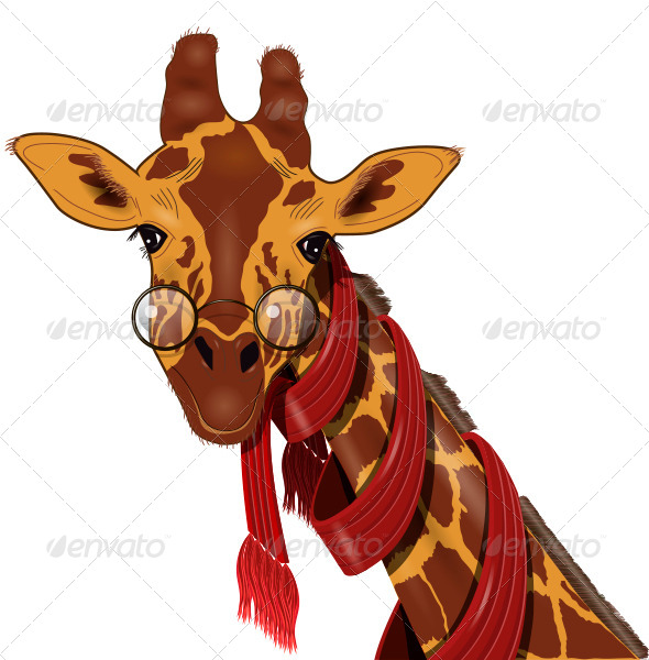 GraphicRiver Giraffe in a Scarf 5907665