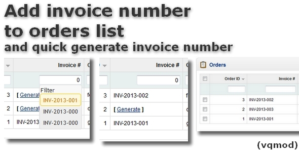 CodeCanyon Add Invoice Number to Orders List for OpenCart 5907802