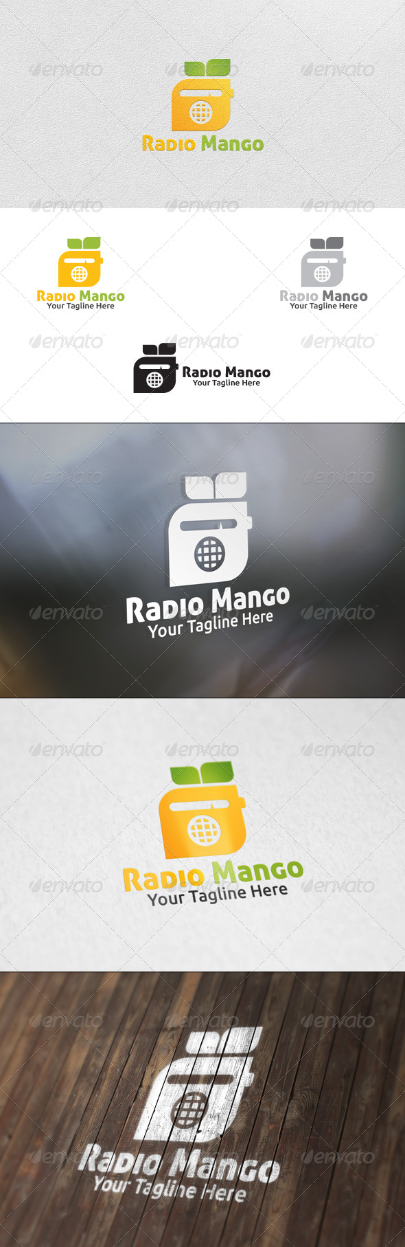 GraphicRiver Radio Mango Logo Template 5908214
