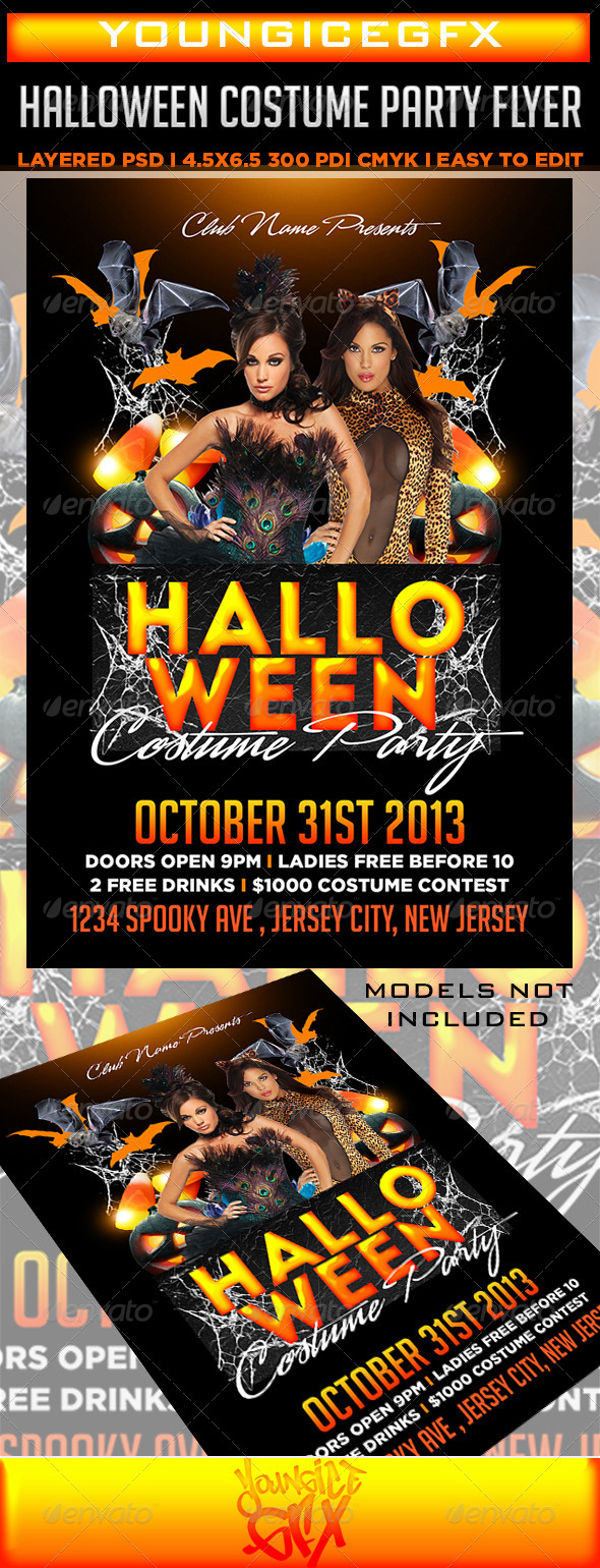 GraphicRiver Halloween Costume Party Flyer 5908566