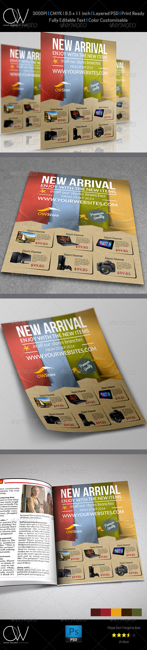 GraphicRiver New Arrival Products Flyer Template 5908576