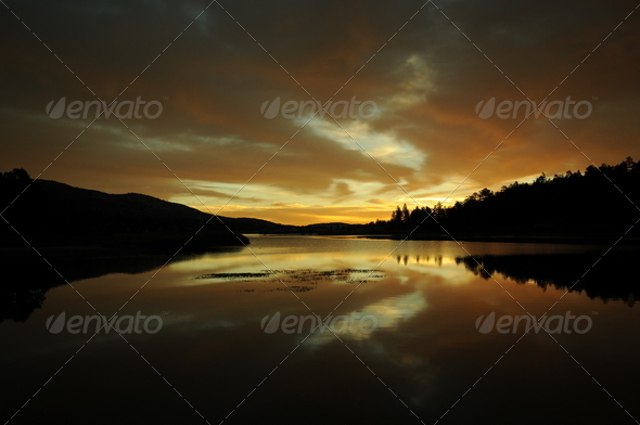 sunrise golden - Stock Photo - Images