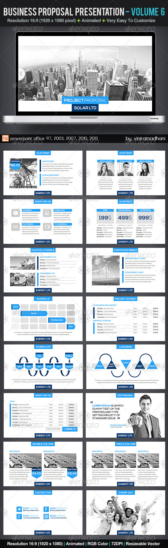 GraphicRiver Business Proposal Presentation Volume 6 5908704