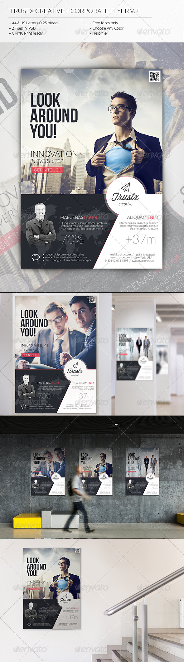 GraphicRiver Trustx Creative Corporate Flyer V2 5908748