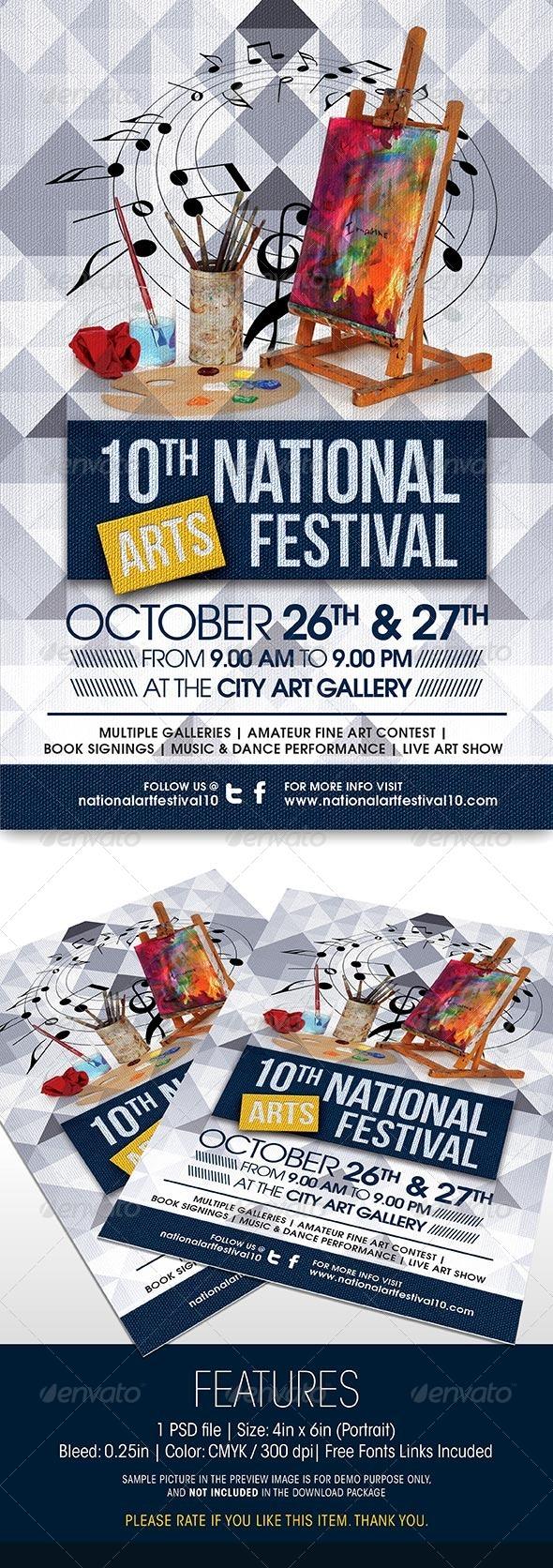 GraphicRiver Arts Festival Event Flyer 5909023