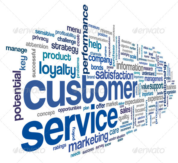 Customer service concept in word cloud - Stock Photo - Images