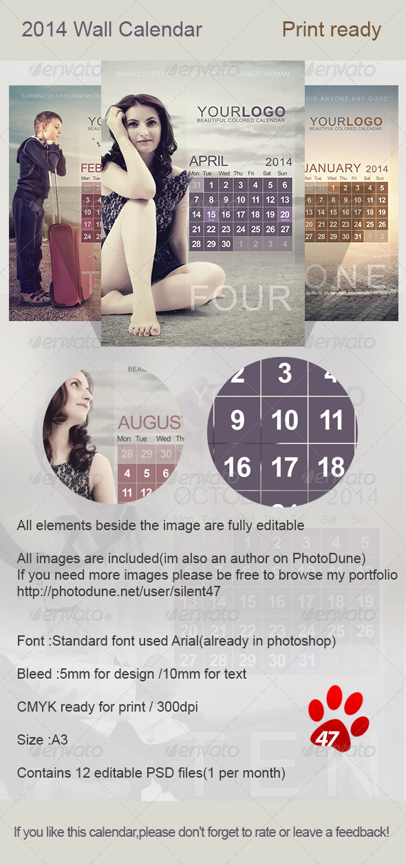 GraphicRiver Wall Calendar 2014 5909193