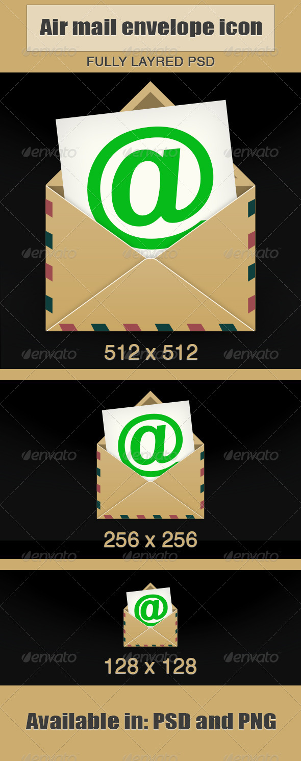 GraphicRiver Air Mail Envelope Icon 5909199