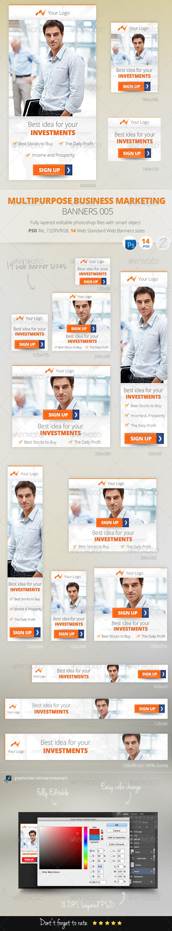 Multipurpose Business Marketing Banners 005 - Banners & Ads Web Elements