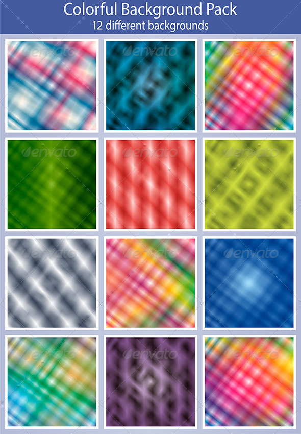 GraphicRiver Abstract colorful background pack 5861714
