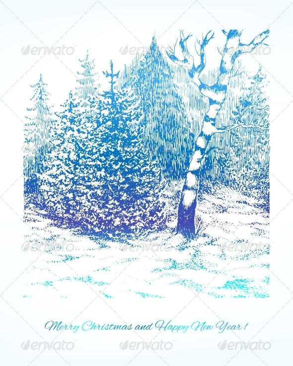 GraphicRiver Merry Christmas Vector Winter Background 5909751