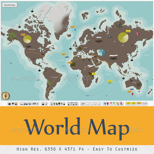 GraphicRiver I World Map 5909797