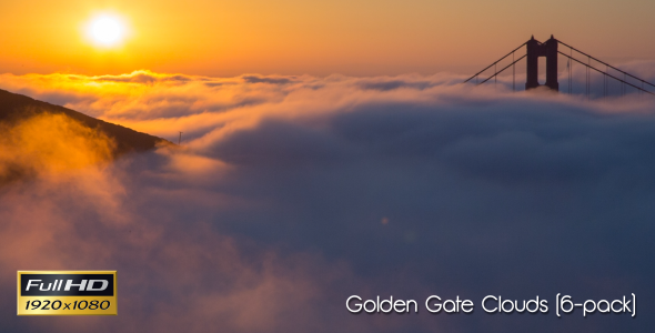 Golden Gate & Clouds 6-Pack