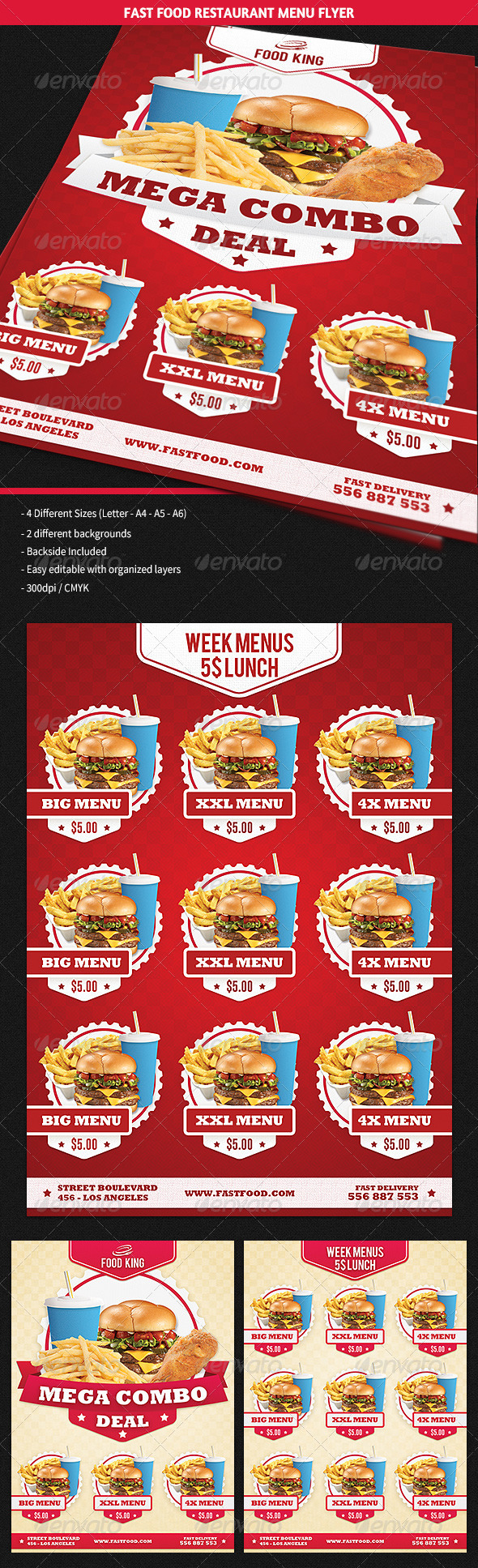 GraphicRiver Restaurant Fast Food Menu Flyer 5910891