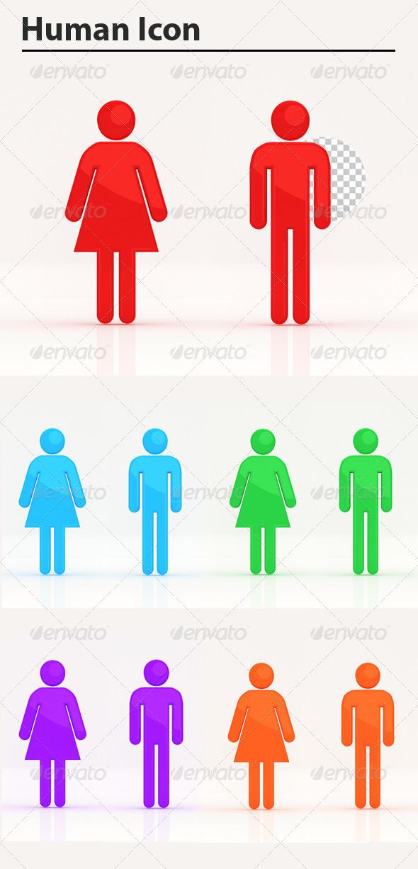 GraphicRiver Human Icon 5911510
