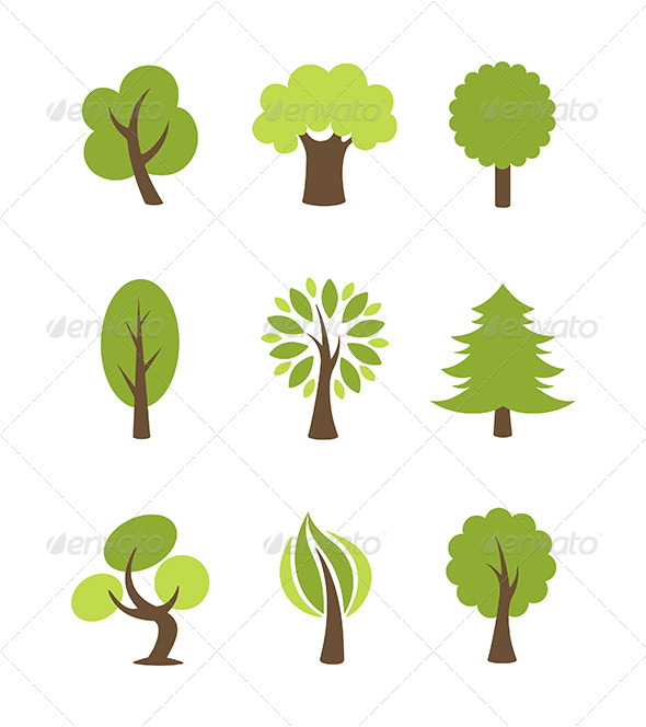 GraphicRiver Tree Icons Set 5911619