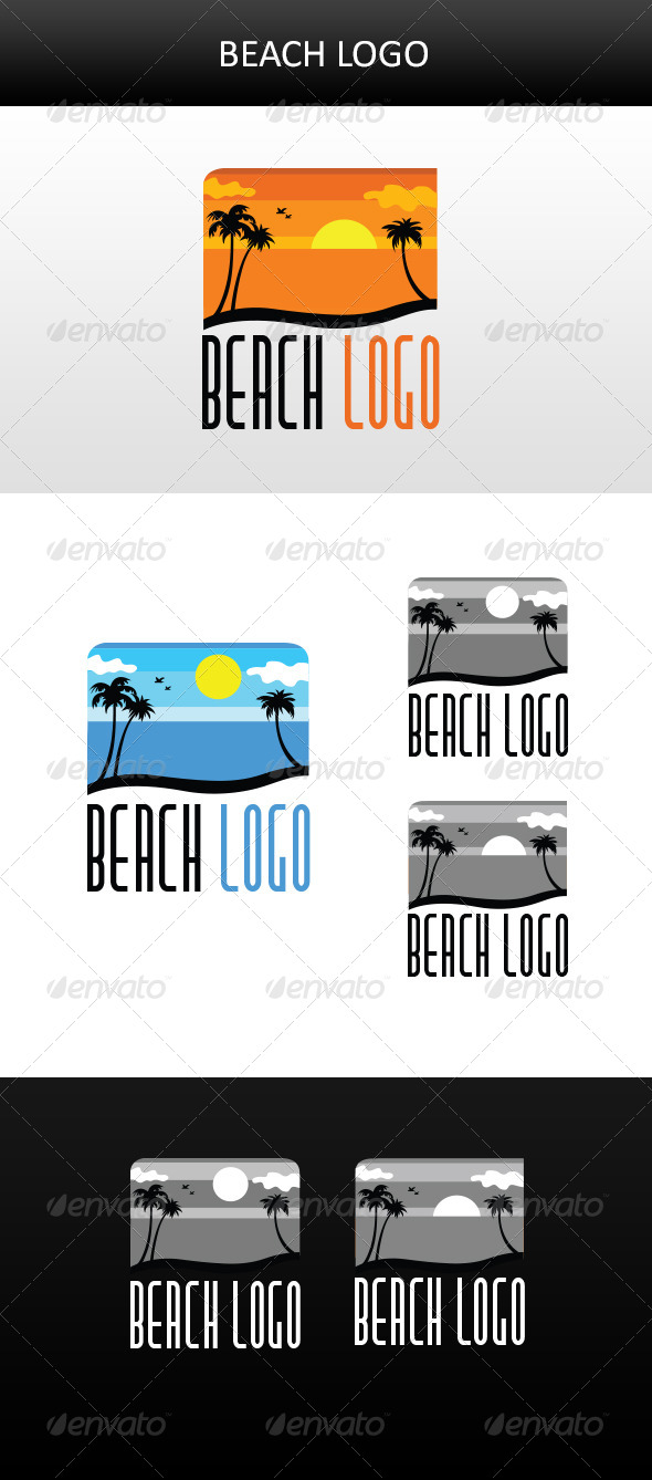 GraphicRiver Beach Logo 5911652