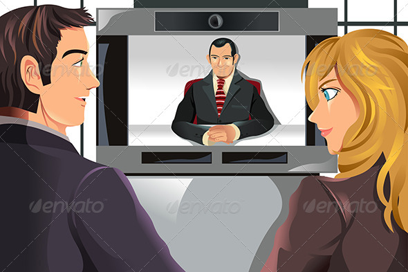 GraphicRiver Business People Video Conferencing 5911659