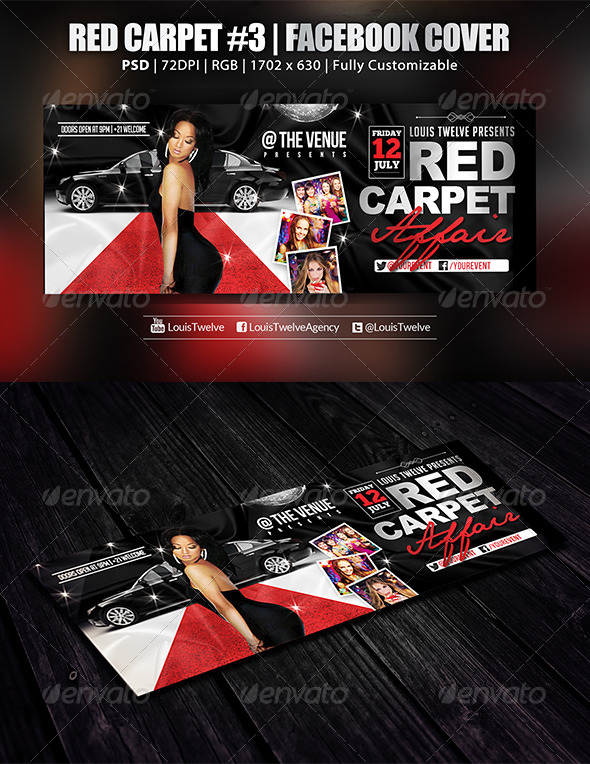GraphicRiver Red Carpet #3 Facebook Cover 5911890