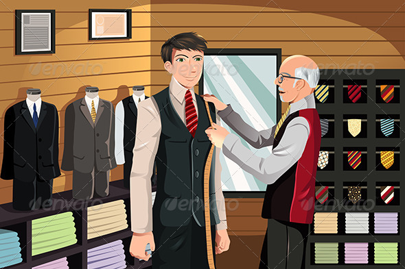 GraphicRiver Tailor Fitting for Suit 5911989