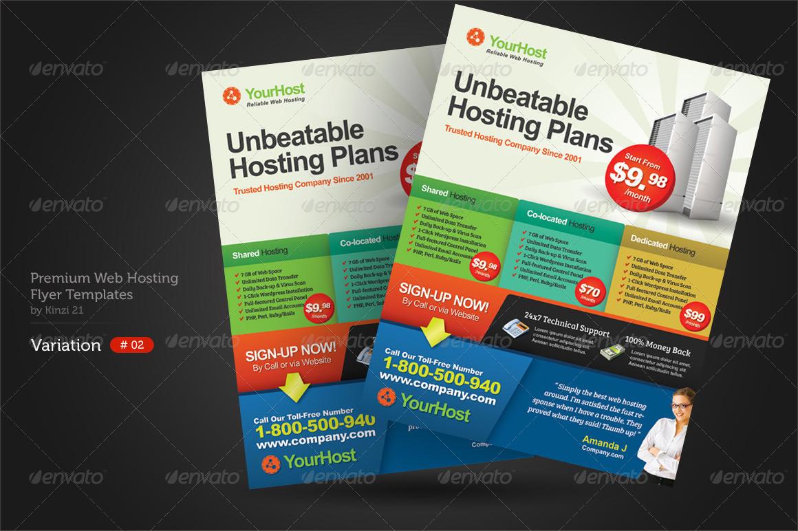 Premium Web Hosting Flyers by kinzi21 – Web Flyer