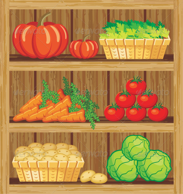 GraphicRiver Supermarket Shelfs and Vegetables 5912144